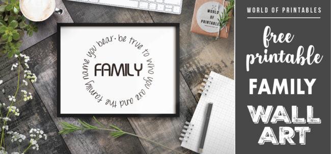 free printable family name you bear wall art