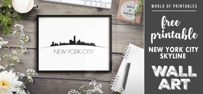 free printable new york city skyline wall art