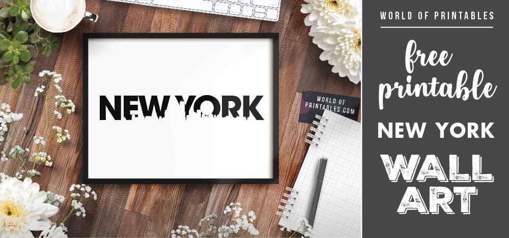 free printable new york wall art