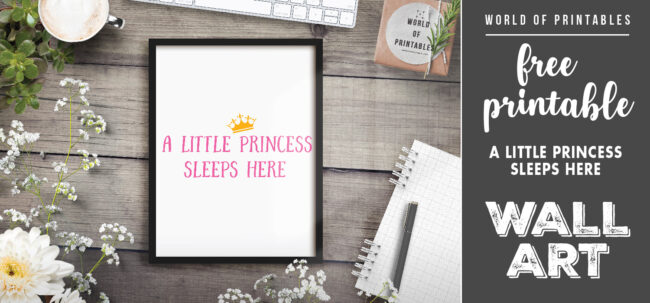 free printable wall art - a little princes sleeps here