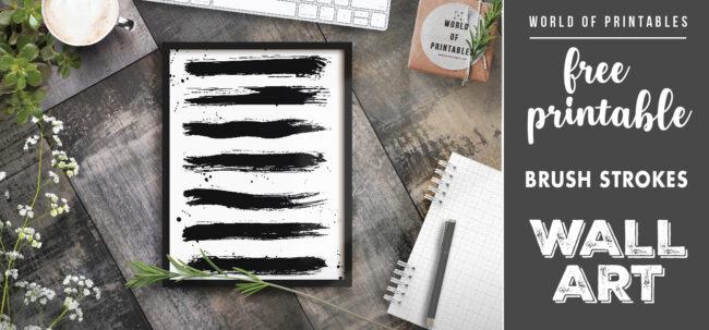 free printable wall art - brush strokes