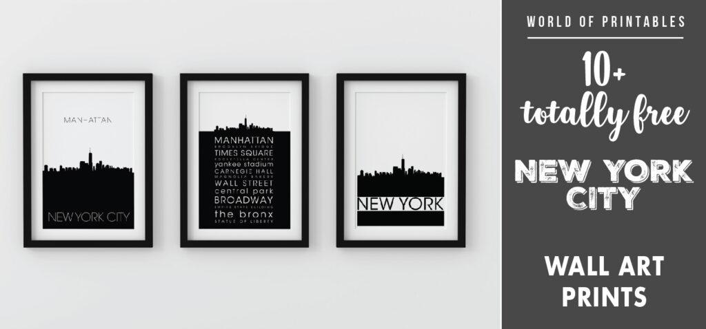 10 new york city wall art prints diy home decor