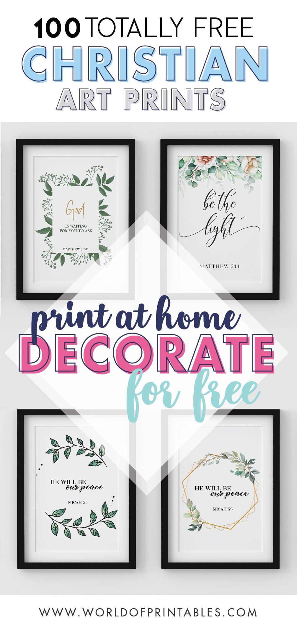 100 Totally Free Christian Wall Art Prints Home Decor Ideas