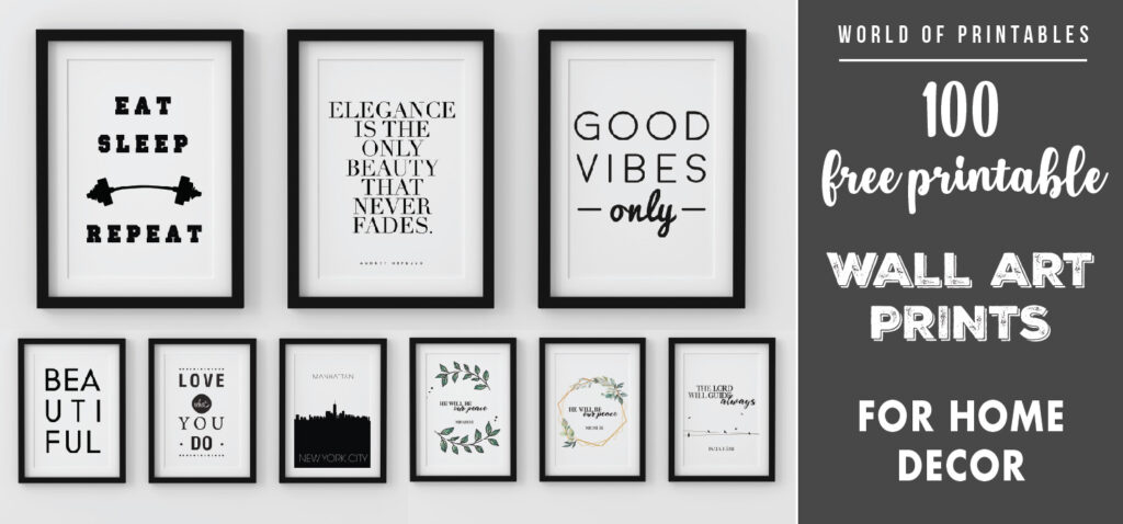 100 free printable wall art prints for home decor