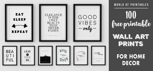 100 free printable wall art prints for home decor