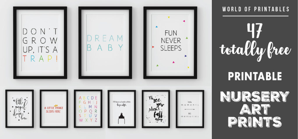 47 totally free printable nursery wall art decor