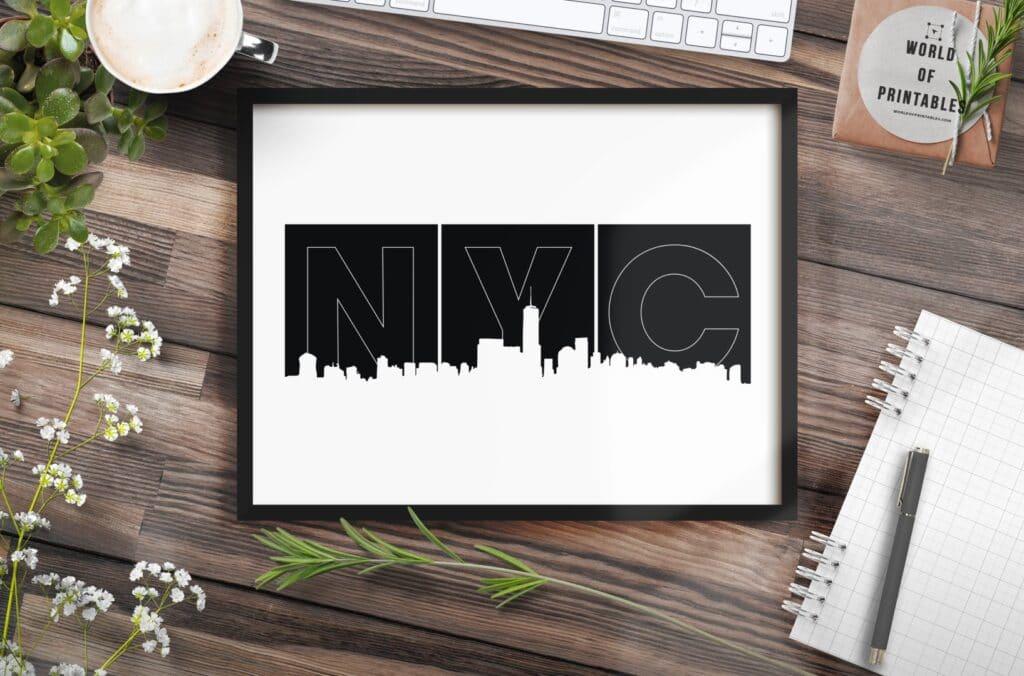 NYC Blocks mockup - Printable Wall Art