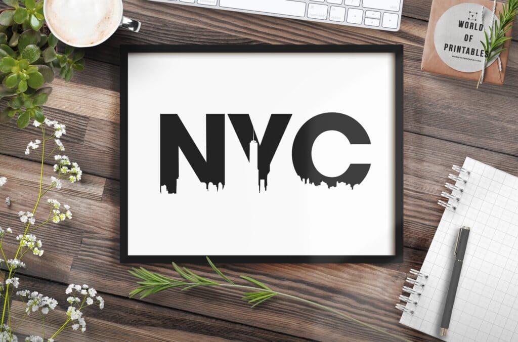 NYC Skyline mockup 2 - Printable Wall Art