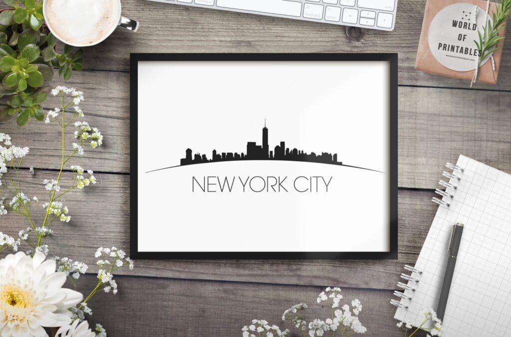 New York City Curved mockup 2 - Printable Wall Art