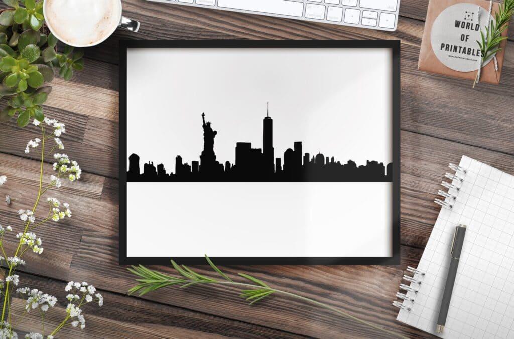 New York Skyline mockup 2 - Printable Wall Art