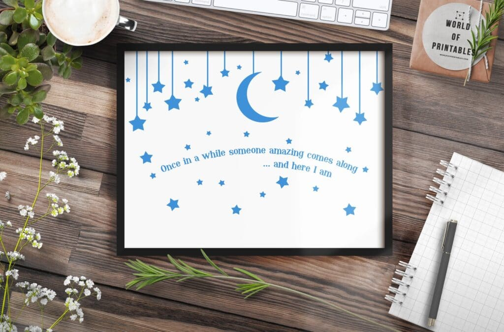 Once in a while mockup 2 - Printable Wall Art