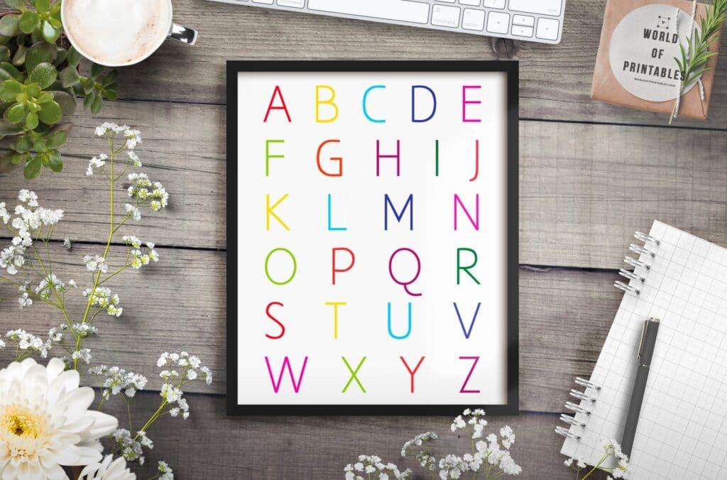 alphabet color mockup 2 - Printable Wall Art