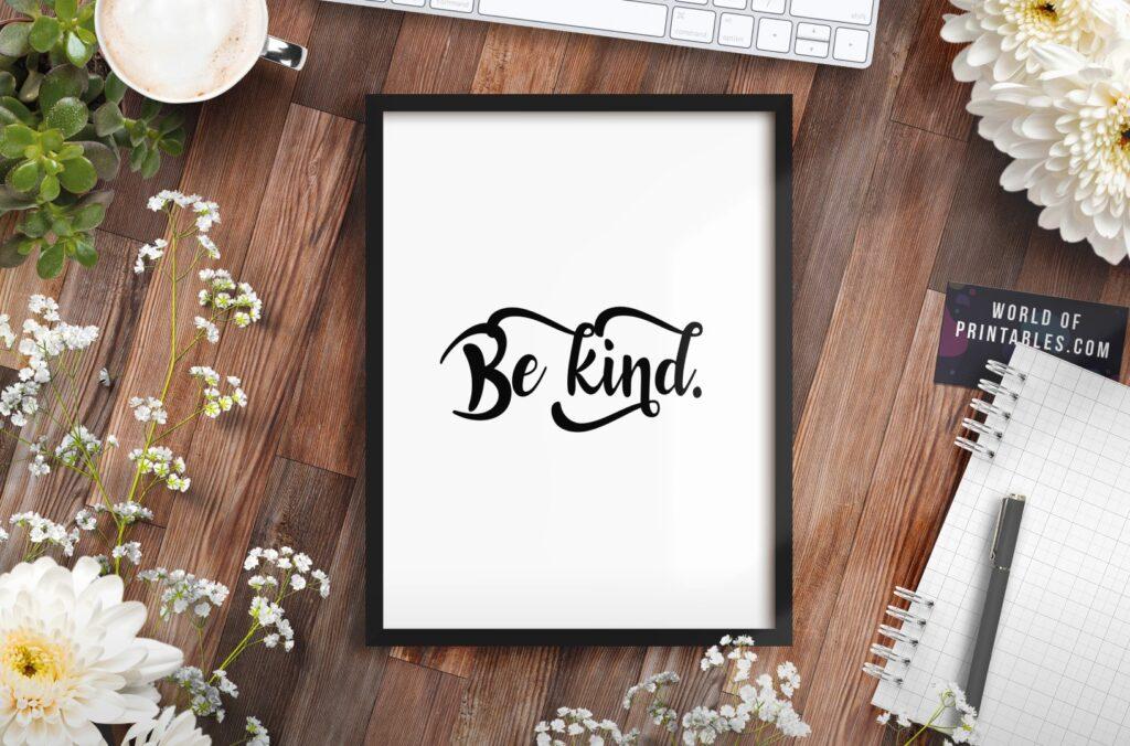 be kind mockup 2 - Printable Wall Art