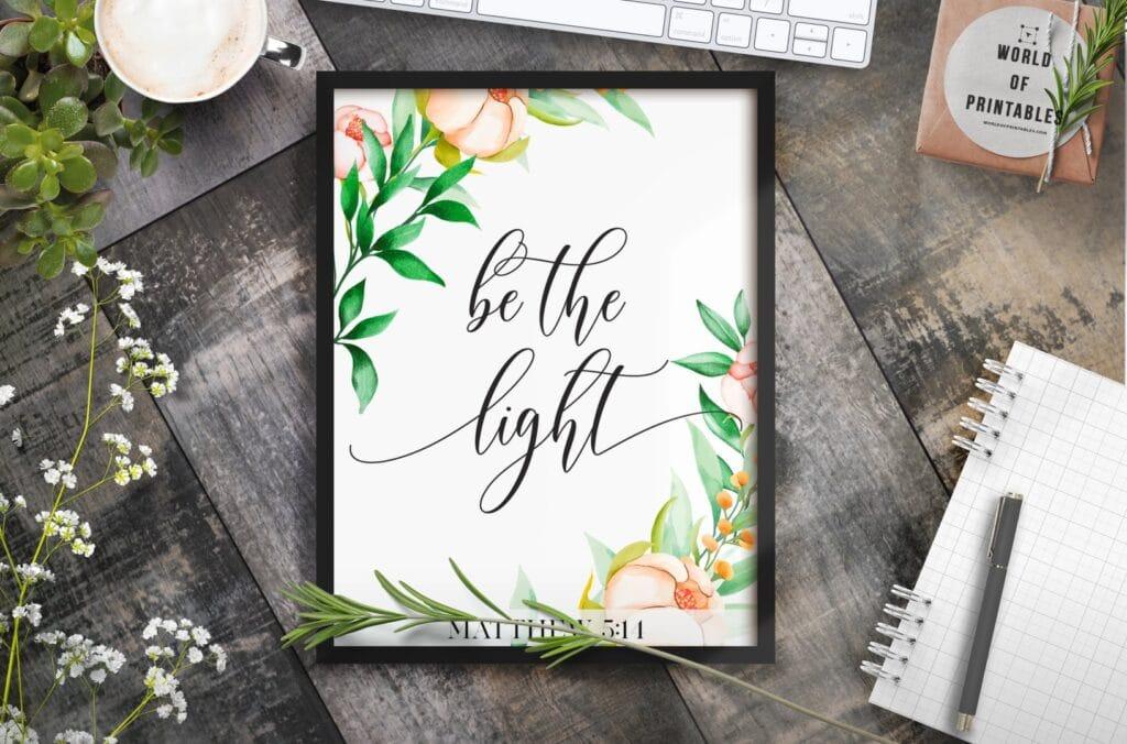 be the light 2 - Printable Wall Art