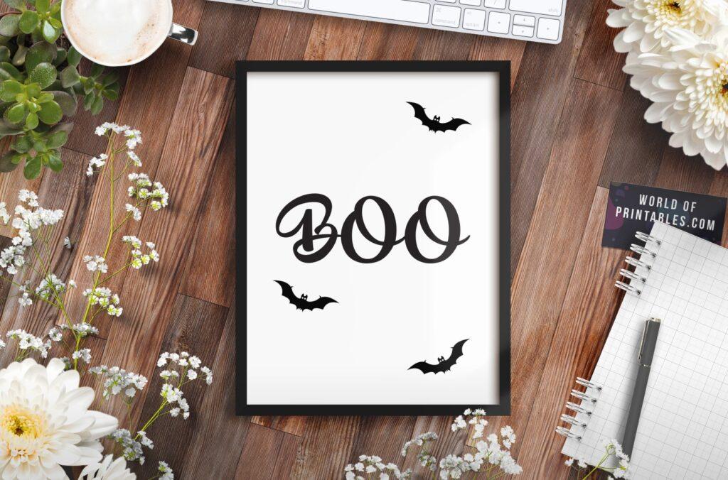 boo mockup 2 - Printable Wall Art