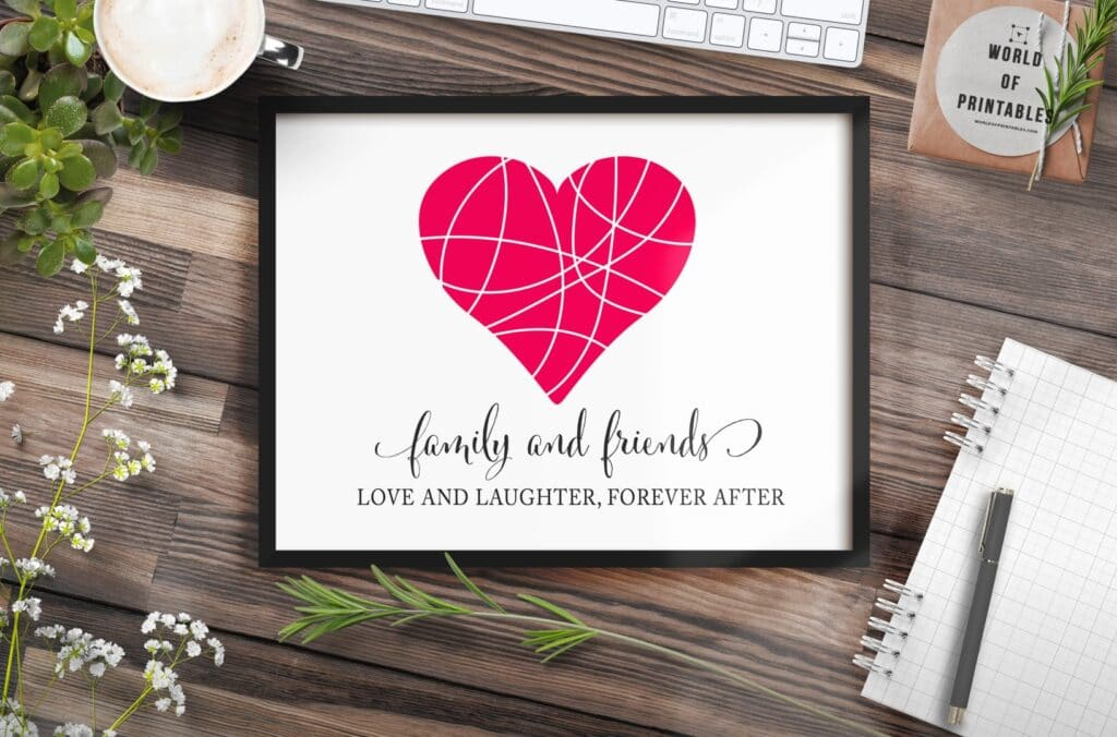 family and friends mockup 2 - Printable Wall Art