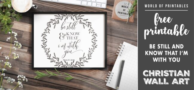 free christian wall art - be still and know that i'm with you-02- Printable