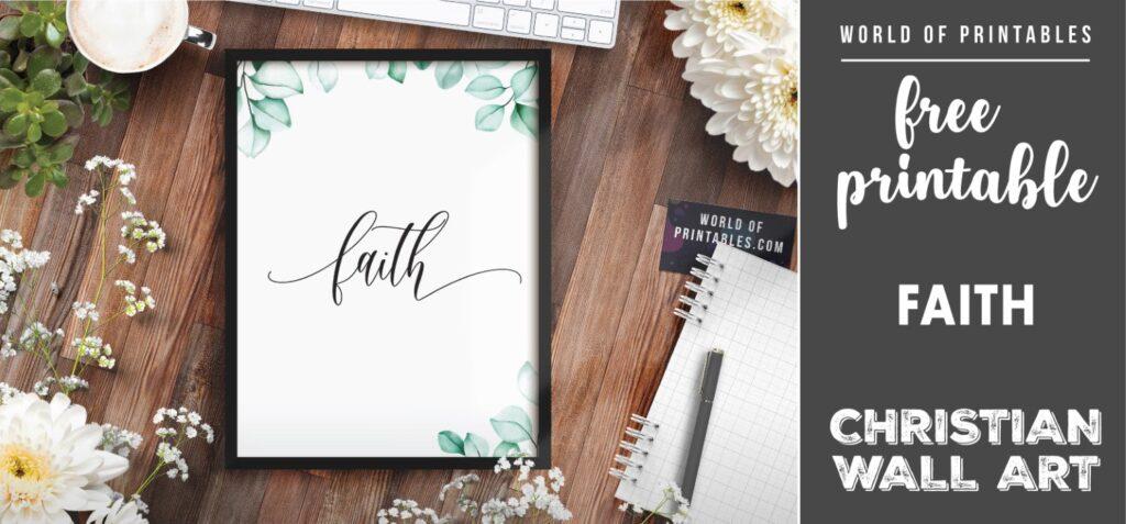 free christian wall art - faith- Printable