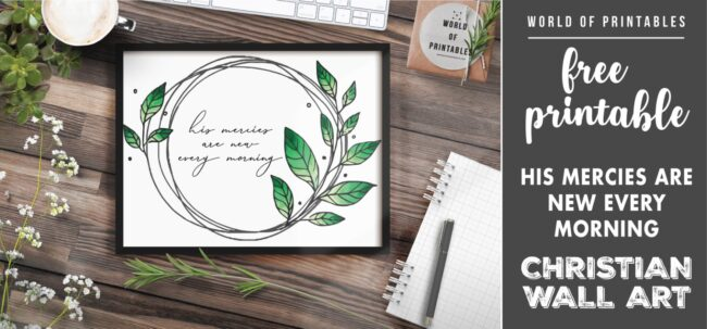 free christian wall art - his mercies are new every morning-Printable