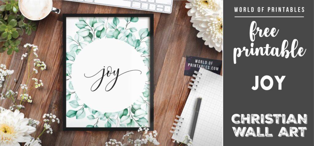 free christian wall art - joy-01 - Printable