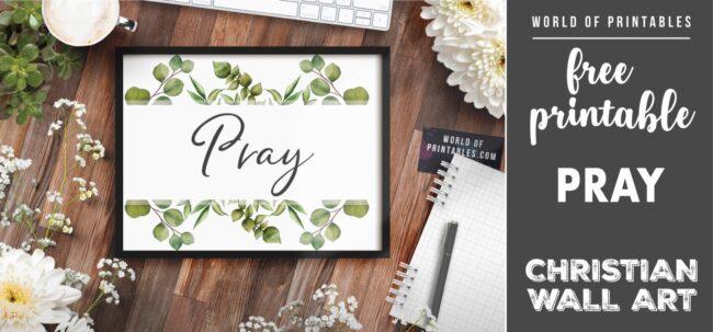 free christian wall art - pray - Printable