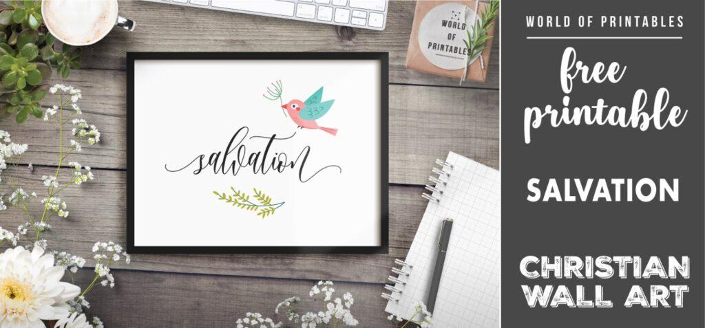 free christian wall art - salvation-Printable