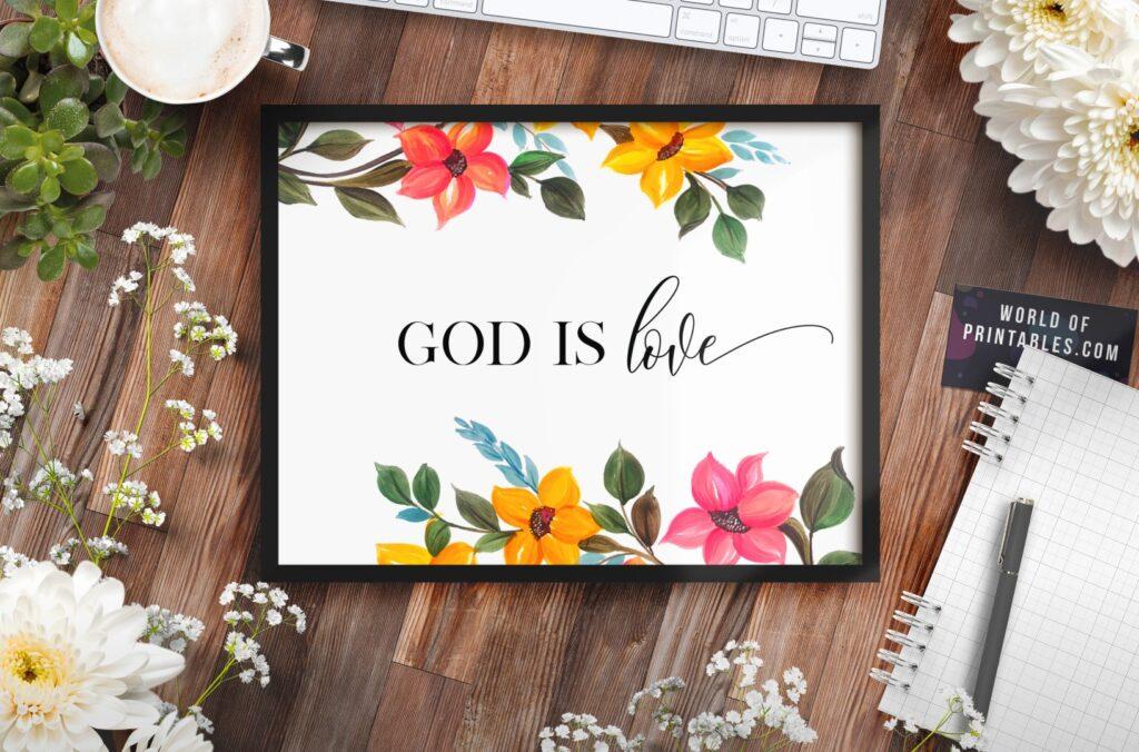god is love - Printable Wall Art