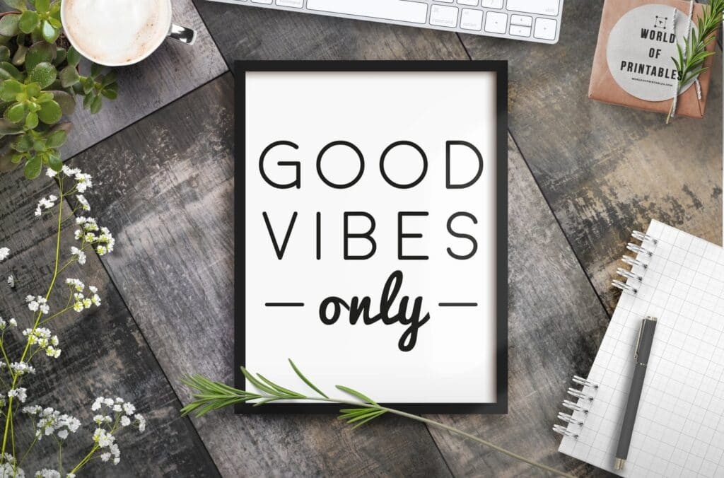 Good Vibes Only Wall Art Print