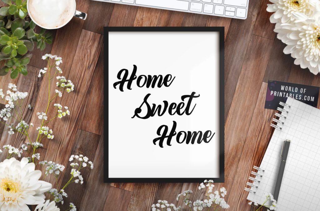 home sweet home mockup 2 - Printable Wall Art