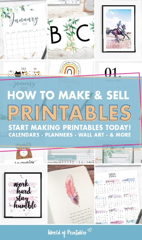 how to make and sell printables