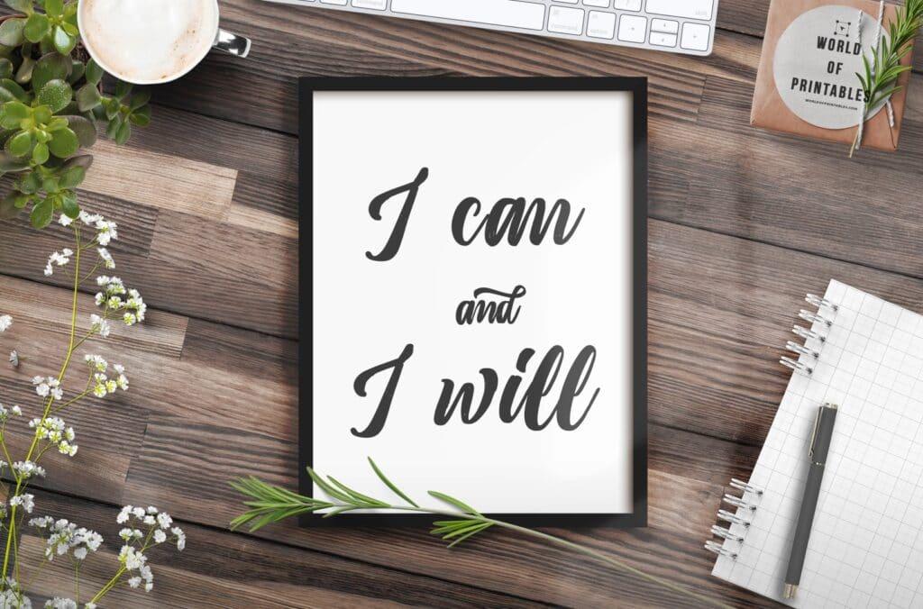 i can and i will mockup 2 - Printable Wall Art