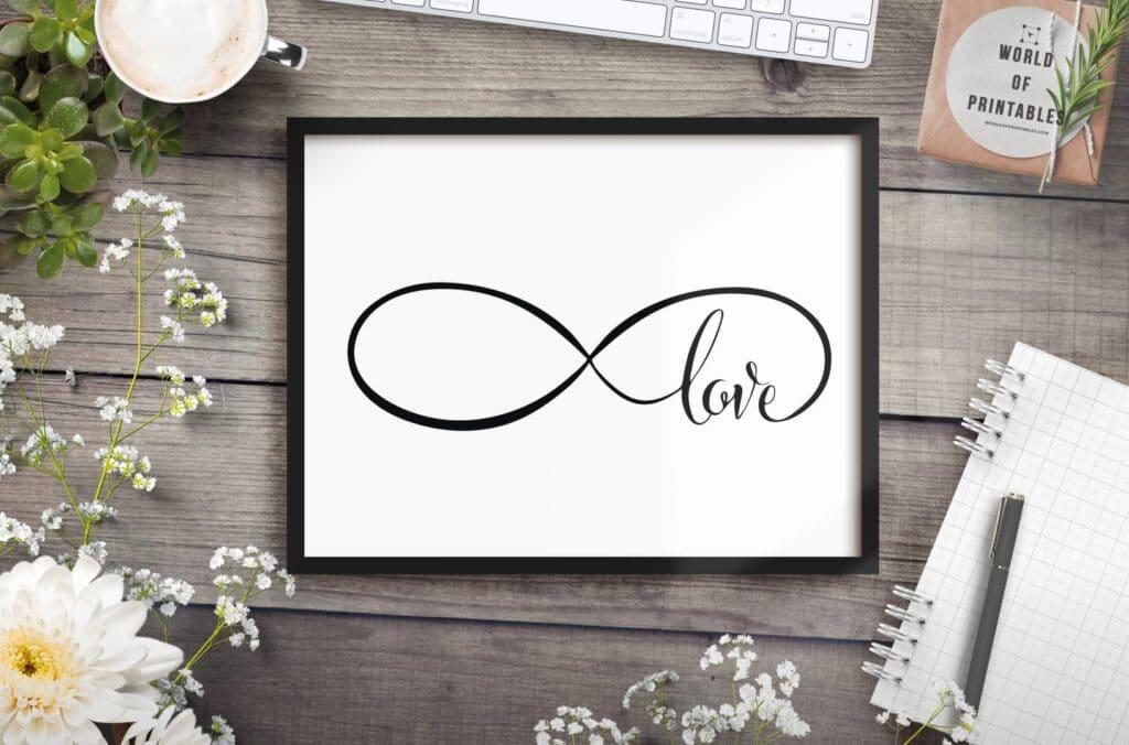 infinity love mockup 2 - Printable Wall Art