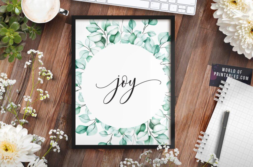 joy - Printable Christian Wall Art