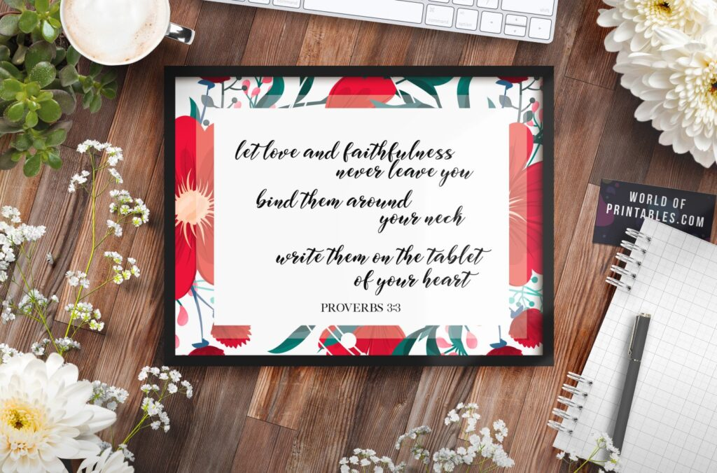 let love and faithfulness never leave you - Printable Wall Art