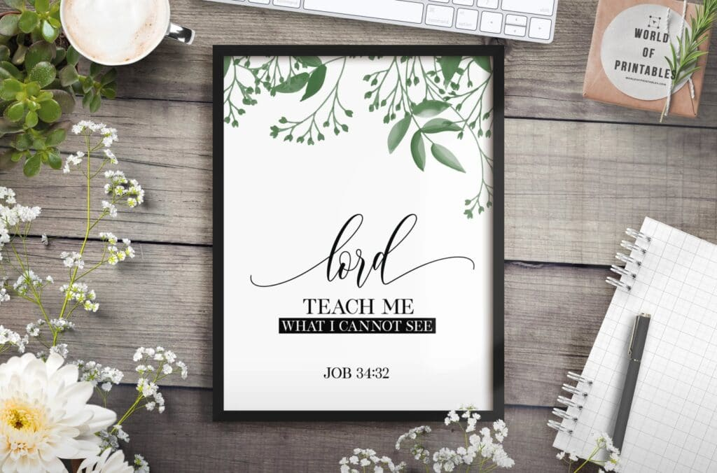 lord teach me what i cannot see - Printable Wall Art