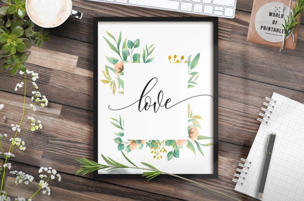 love - Printable Wall Art