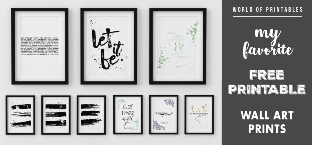 my favorite free printable wall art prints for home decor