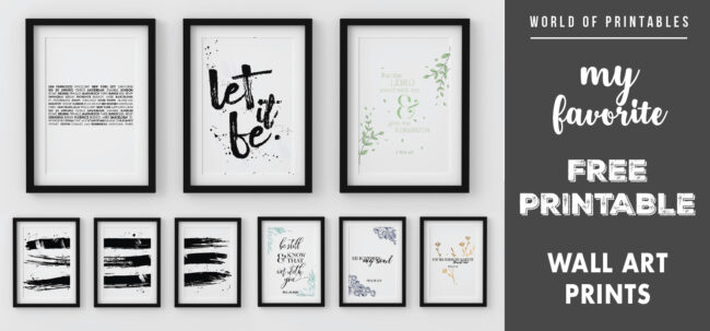 my favorite free printable wall art prints for home decor