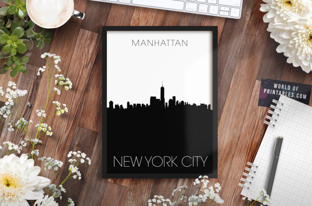 new york manhattan alt - Printable Wall Art