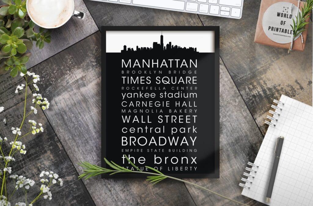 new york mockup alt 5 - Printable Wall Art