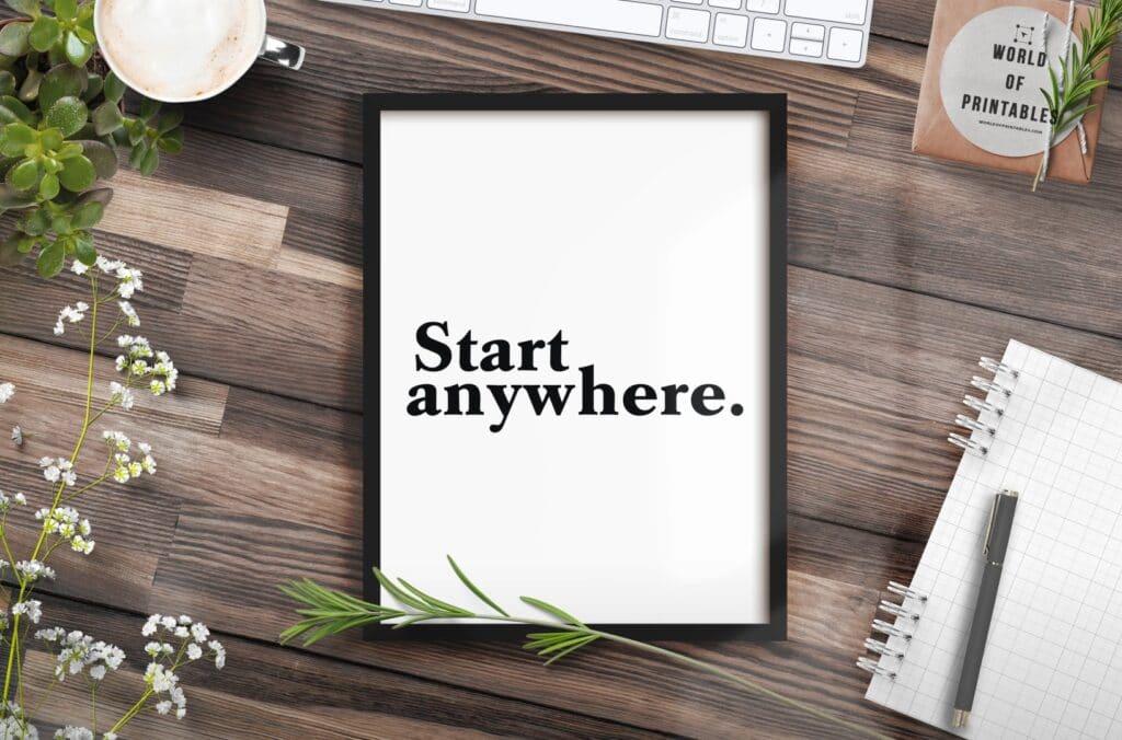 start anywhere mockup 2 - Printable Wall Art