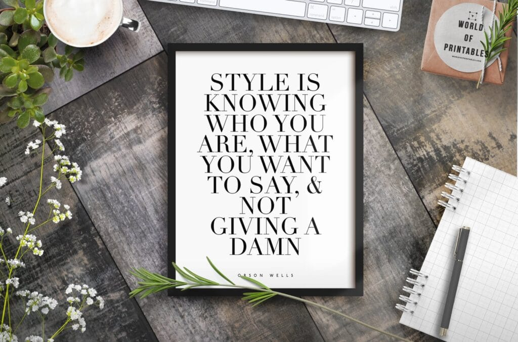 style is knowing who you are mockup 2 - Printable Wall Art