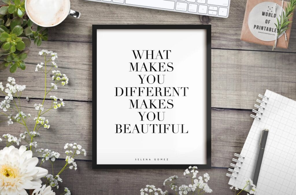 what makes you different makes you beautiful 2 - Printable Wall Art