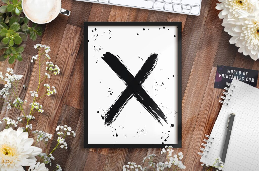 x brush strokes mockup 2 - Printable Wall Art