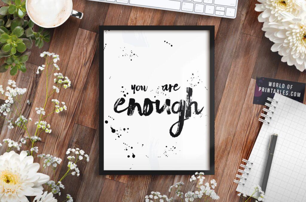 you are enough mockup 2 - Printable Wall Art