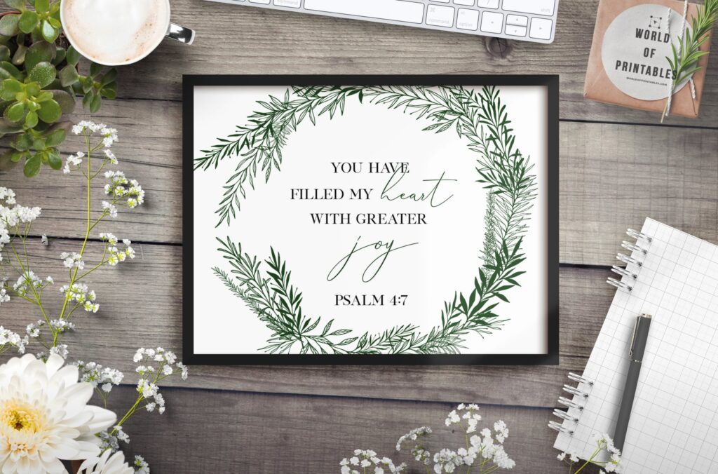 You have filled my heart with greater joy - free printable wall art