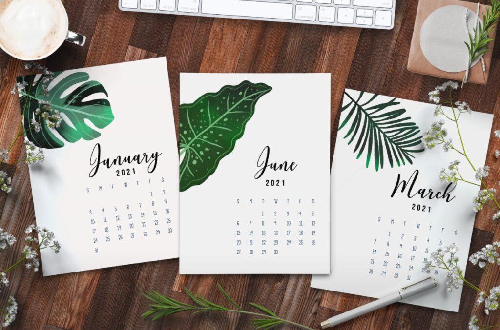 Free Printable Calendar 2021 - calendar 13 mockup 1