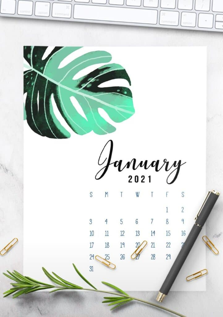 Free Printable Calendar 2021 - calendar 13 mockup 2