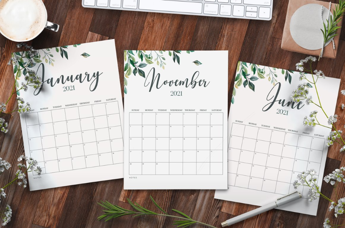 Free Printable Calendar 2021 - calendar 2 mockup 1