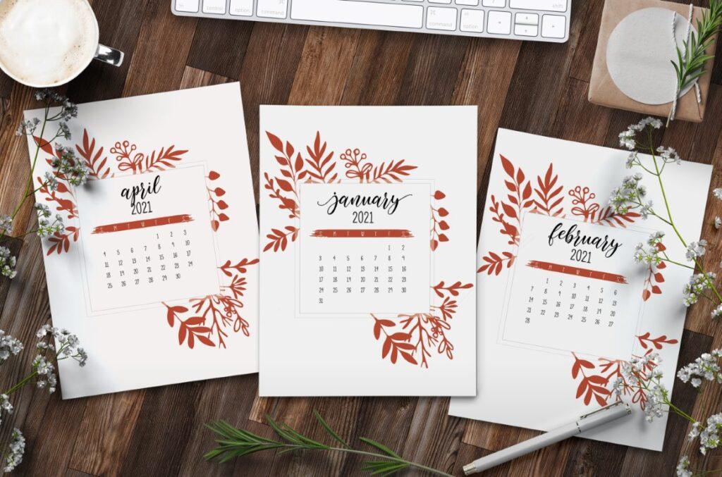 Free Printable Calendar 2021 - calendar 21 mockup 1